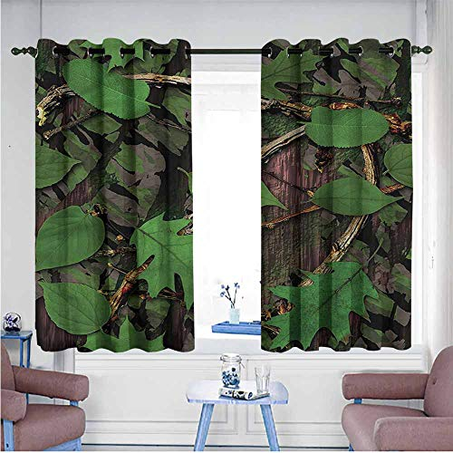 - Mdxizc Novel Curtains Forest Tree Trunk Bark Greenery Breathability W72 xL45 Suitable for Bedroom,Living,Room,Study, etc.