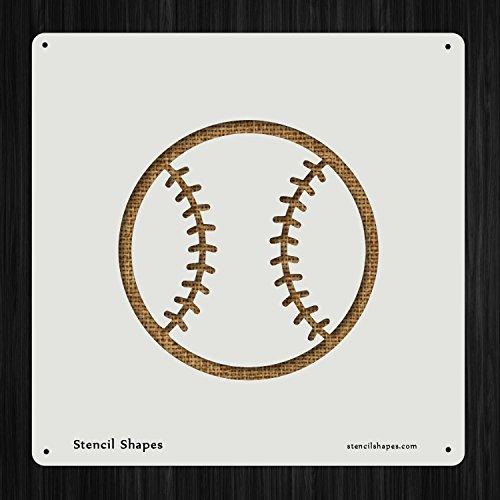 Baseball Athletics Ball , Style 7198 DIY Plastic Stencil Acrylic Mylar Reusable
