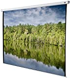 celexon 167'' Manual Economy 118 x 118 inches viewing area, 1:1 format, Manual Pull Down Projector Screen, Wall or ceiling mounting, Gain 1.0