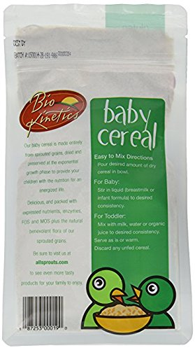 Organic Buckwheat Baby Cereal Made with Sprouted Whole Grain Buckwheat, 7 Oz. (198 g) - 2 Pack