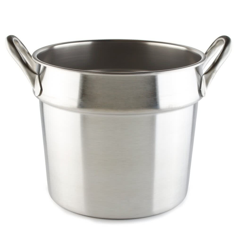 Tabletop king 77133 20 Qt. Stainless Steel Double Boiler Inset - Flat Bottom