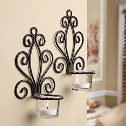 5c947f04de7d IMAX 20274 Circle Wall Sconce - Candle Holder for Home