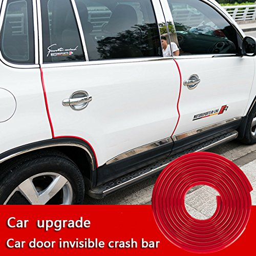 Door Edge Guard, Car door edge Protected Lining , U-edge trimming rubber seal protector car protection door side Molding Seal Protector,Suitable for most cars, no glue required((16Ft ) red)
