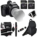 Pentax 645D 40MP Medium Format Digital SLR Camera with 3-Inch LCD Screen (Black) + Shoulder Bag + Ritz Gear Cleaning Kit + Card Reader + Polaroid Card Wallet + 2 Lexar 32GB SDHC 200X Class 10 Bulk