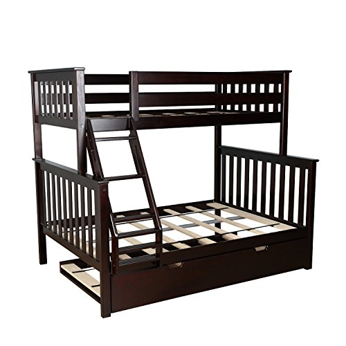 twin over full espresso bunk bed - 7
