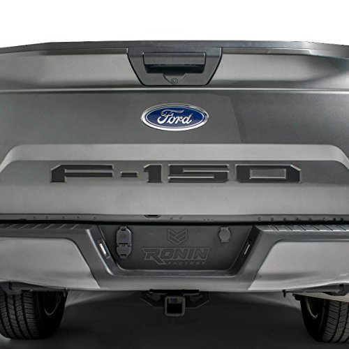 F-150 TAILGATE LETTERS for FORD F150 – THICK PLASTIC by RONIN FACTORY (Black)
