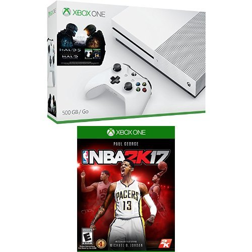 Xbox One S 500GB Console - Halo Collection Bundle and NBA 2K17