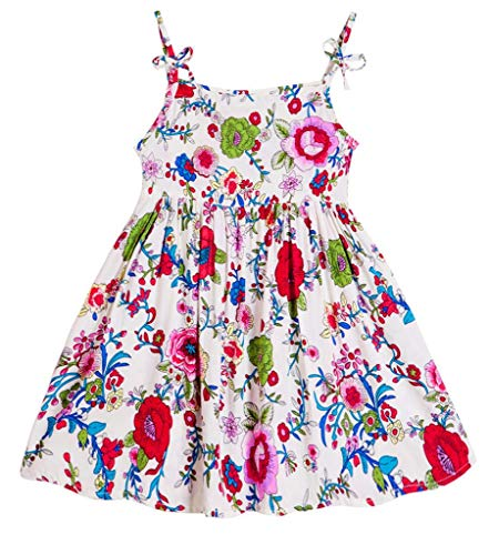 Floral Pig (Coralup Little Girls Floral Dresses Summer Halter Beach Sundress(3-4 Years,Floral))