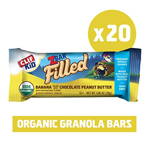 Zbar Filled Clif Kid Zbar Filled – Banana with Chocolate Peanut Butter – (1.06oz. Bars, 20Count Value Pack), 20Count