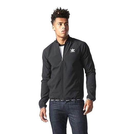adidas Men's Originals Track Jacket - Black/White (Small)