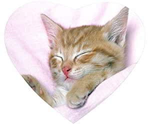 Cat Nonskid Heart Shaped Mouse Pad - Please Do Not Disturb Me