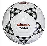 Mikasa FSC62 America Futsal Soccer Ball (Black/White, Size 4)