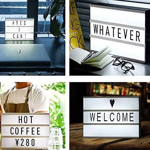 Caja cinematográfica de luz LED de combinación libre, letras ...