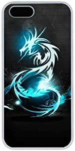 Blue Dragon For Ipod Touch 4 Phone Case Cover Hard Shell White Cover Cases by iCustomonline