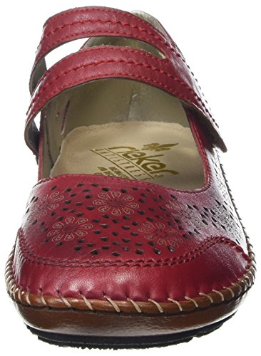 Rieker Damen 44875-33 Mary Jane Halbschuhe Rot (33 Red)
