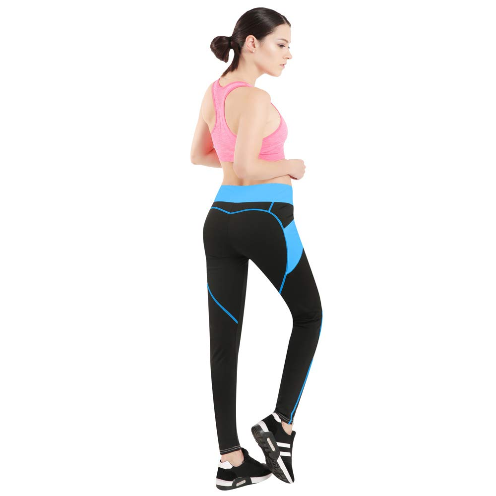 7ebe582b73c65 YAOKXIN Black Pocket Leggings for Women, White Stitching High Waist Sports  Pants, Yoga Stretching Tights, Gym Workout Pant, Running Tights, Fitness  Trousers ...