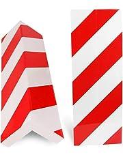 BUZIFU 2pcs Protección para Parachoques, Espuma para Golpes, Las Franjas Rojas y Blancas,