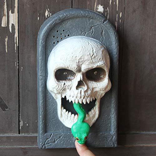 Coohole Halloween Doorbell,Creative Plastic Luminous Sound Trick Witch Skull Vampire Doorbell -