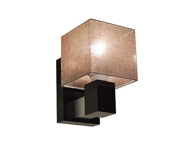 Elegante lampada lk16a da parete in legno massiccio illuminazione