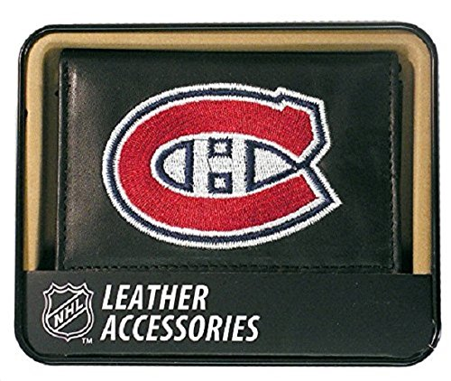 NHL Montreal Canadiens Embroidered Genuine Leather Trifold Wallet