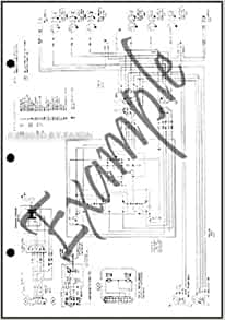 1984 ford bronco ii factory foldout wiring diagram