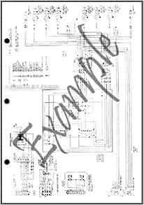 1984 ford bronco ii factory foldout wiring diagram original ford books. Black Bedroom Furniture Sets. Home Design Ideas