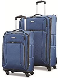 """Victory 2 Piece Nested Softside Set (21""""/29""""), Navy Blue, Only at Amazon"""