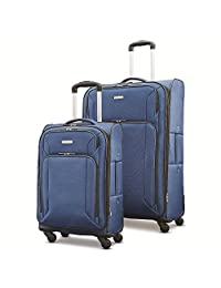 Samsonite Victory 2 Piece Nested Softside Set (spinner 21/spinner 29) Luggage Set, Navy Blue