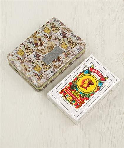 Baraja española en caja metálica - Barajas de Cartas para Detalles y regalos de Bodas: Amazon.es: Hogar