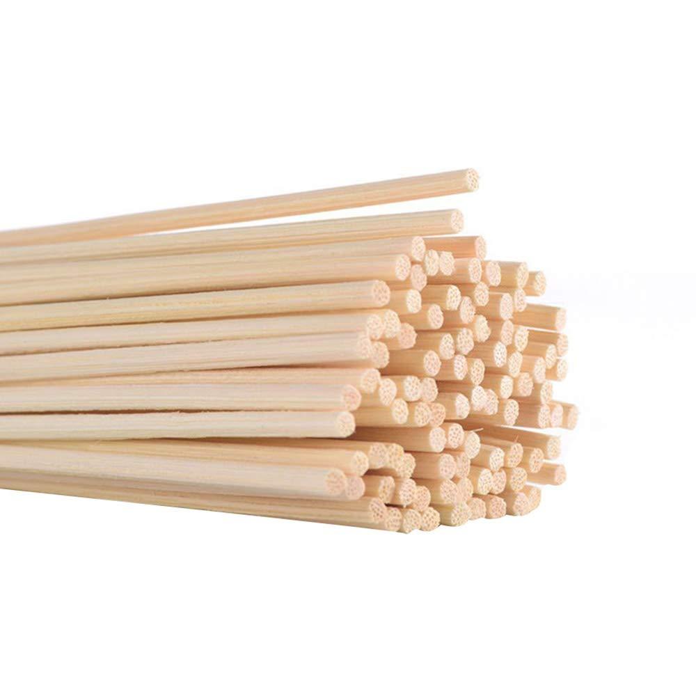 Samtlan 120 Pezzi Rattan Bastoncini, Bastoncini di Diffusore di Essenziale Olio di Legno