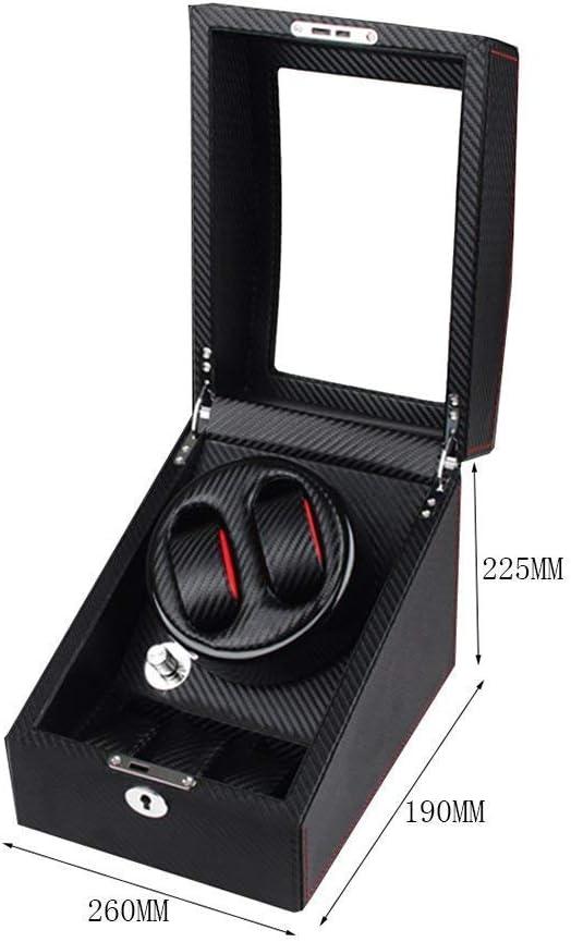 Watch Winder, Orologio Meccanico Motore Elettrico Winding Box 2 + 0 Tabella Posizione, High-End Orologio immagazzinaggio/Carbon Fiber Guarda Shaker B