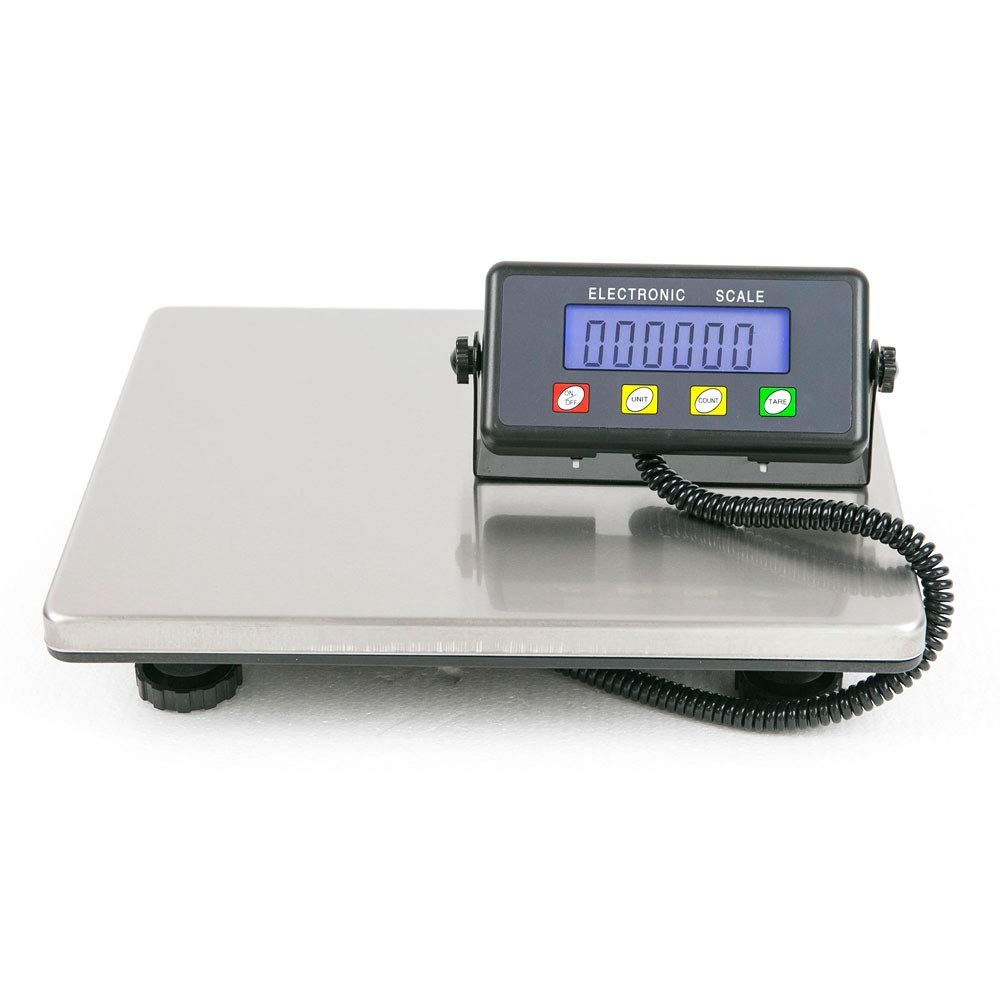 440 Pound Capacity Digital Shipping and Postal Scale with 15.35 X 12 Inches Durable Stainless Steel Large Platform,for Busniess Office Home Warehouse Package Lugggage, Silver & Black by Little-Tomato