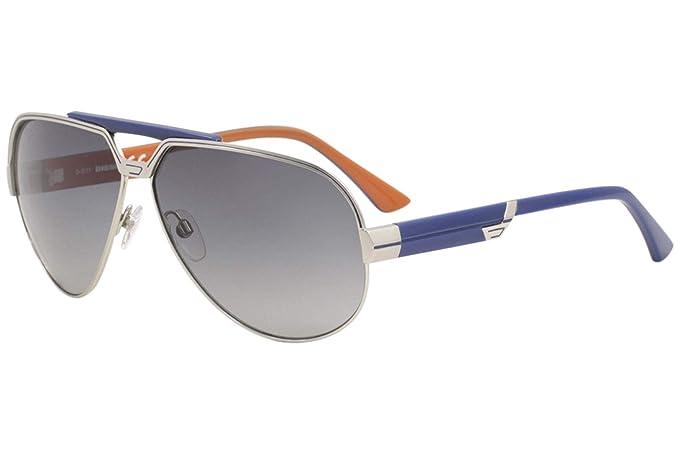 Diesel Gafas de Sol DL-0026-16W Plata/Azul: Amazon.es: Ropa ...