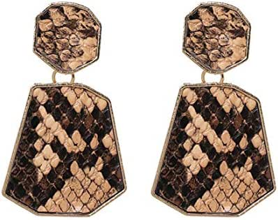 Luxury Colorful Geometry Statement Earrings Gift For Women Girl Birthday Party Leopard Print