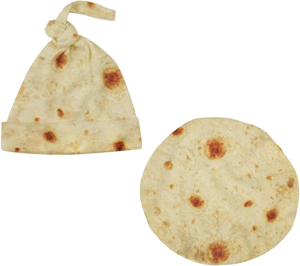 sac /à chapeau Pour B/éb/é 0-6 Mois CUEYU Couverture Burrito B/éb/é,Tortilla de farine Emmailloter,Couverture En train de dormir Ensemble de chapeaux /à bandouli/ère,Burritos Couverture b/éb/é A