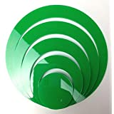 5 Rings Max dia. 15cm Home Decor 3D Art Wall Decals Circles Removable Stickers green