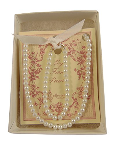 Lovely Pearl Set (Girls Simulated Pearls Bracelet and 14 Inch Necklace Set (5 in Bracelet))