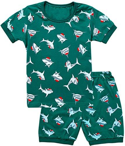 WWEXU Boys Pyjamas Kids Pajamas Set 100% Cotton Children PJS Pajamas for Boy Elephant Loungewear 12M-12 Years Sleepwear (pajamas1, - Girls Loungewear Baby Pant Infant
