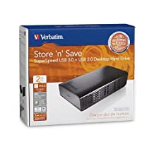 Verbatim 97580 External Drives - USB 3.0 Store ''n'' Save Desktop Hard Drive 2 TB