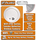 PalmVID WiFi PIR Smoke Detector Hidden Camera Spy