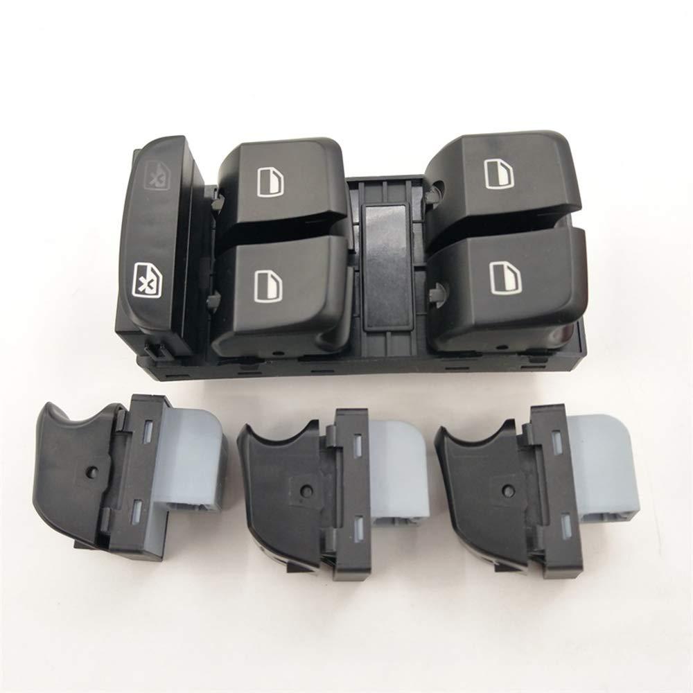 ZPARTNERS Bot/ón del Panel del Interruptor de Control de la Ventana para Audi A4 B8 A5 Q5 2007-2012 8KD959851y 8KD959855