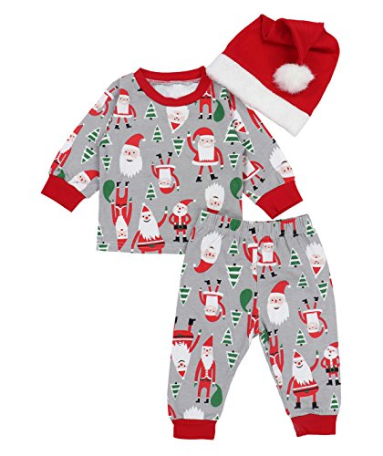 Baby Boy Girl Christmas Outfit My First Christmas Romper Hat Headband Deer Print Pants Outfit Set