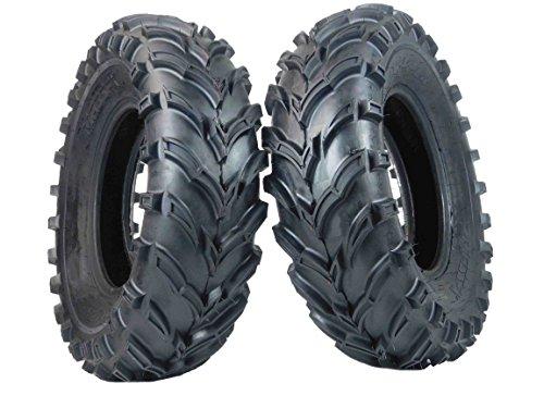 MASSFX Grinder 25x10-12 Rear 2 Set ATV Tires 25x10x12 Dual Compound 6-Ply