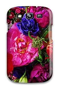 5627096K34048177 New Summer Flowers Tpu Case Cover, Anti-scratch Phone Case For Galaxy S3