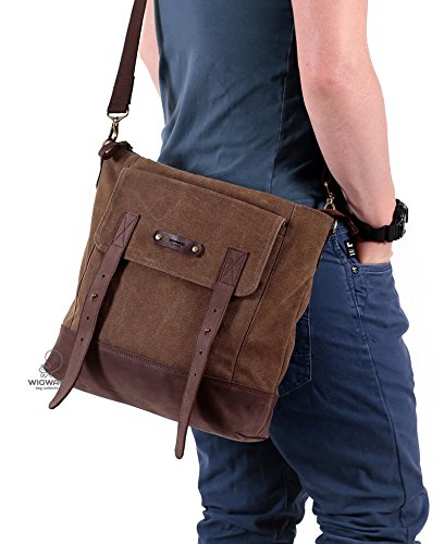 9f94ef80e2 Image Unavailable. Image not available for. Color  Canvas leather bag