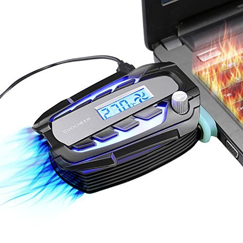 Laptop Cooler Fan with Digital Display,Auto-Temp Detection ,Rapid Cooling,USB Power Supply,Perfect for Gaming Laptop ,Support Various Laptop Size,Black