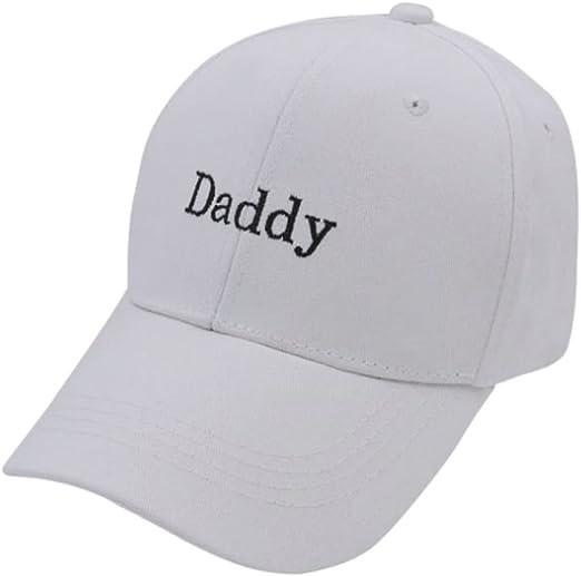 Gorra de béisbol ajustable de algodón de Daddy Dad blanco: Amazon ...