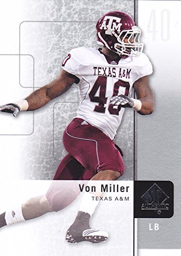 2011 SP AUTHENTIC VON MILLER ROOKIE CARD BRONCOS