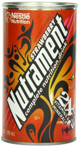 Nutrament Energy and Fitness Drink, Strawberry, 12 Ounce Cans (Pack of 12)