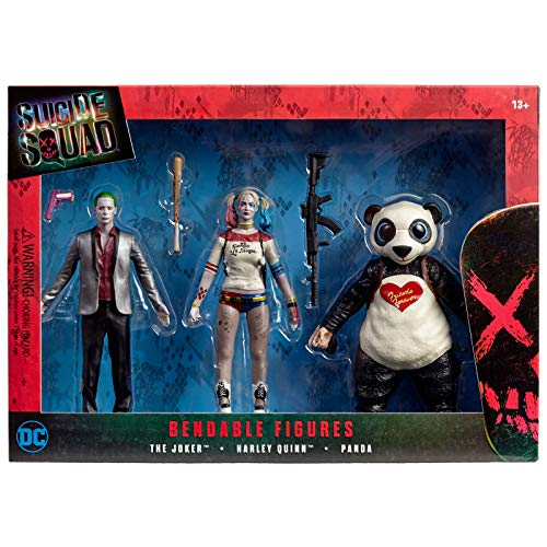 (Suicide Squad Bendable Action Figure Boxed Set)